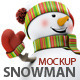 Snowman Mock-Up - GraphicRiver Item for Sale
