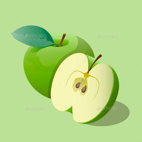 Green Apples - Food Objects