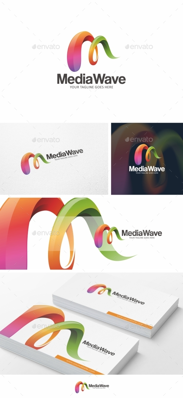 Media Wave - Logo Template Vol. 02 - Letters Logo Templates