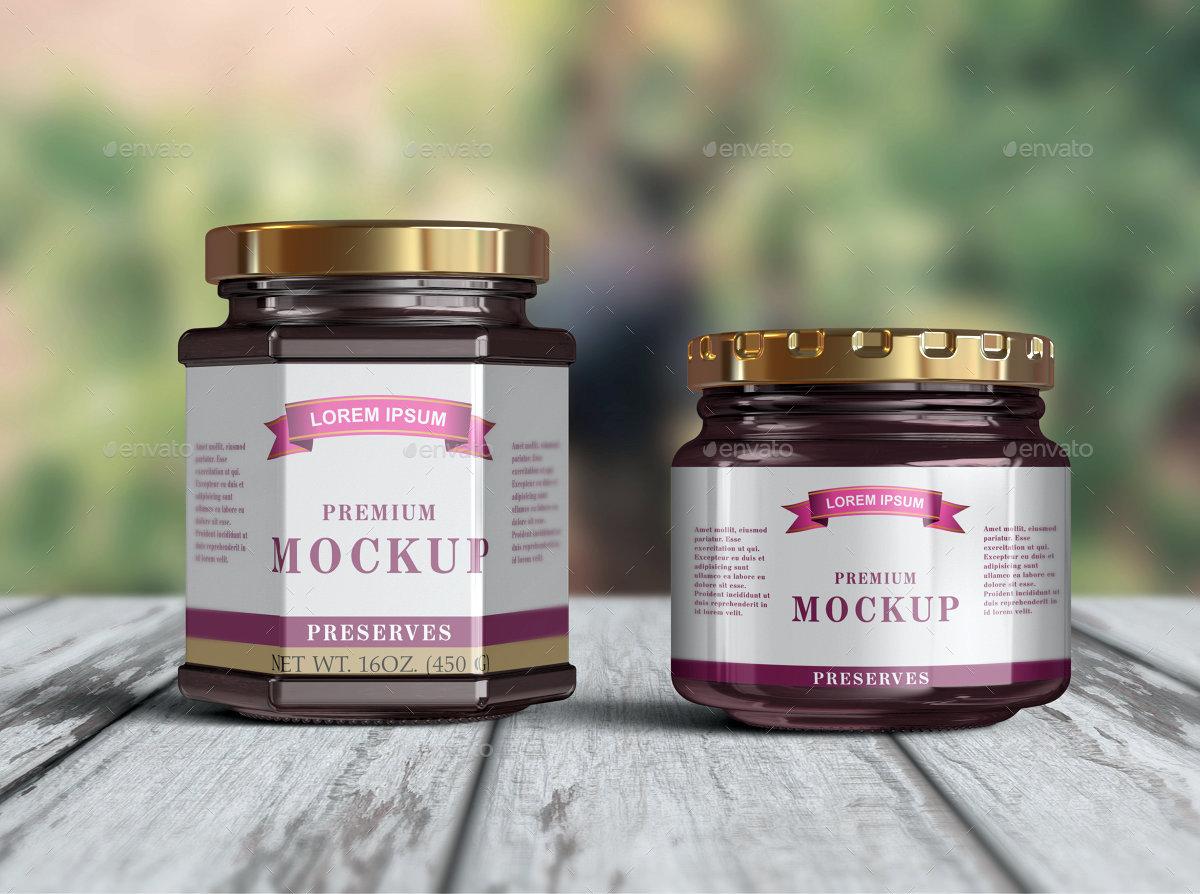 Download 10 Jelly / Jam / Honey Jars Mockup by Fusionhorn ...
