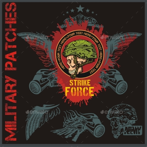 Special Forces Patch Set - Objects Vectors
