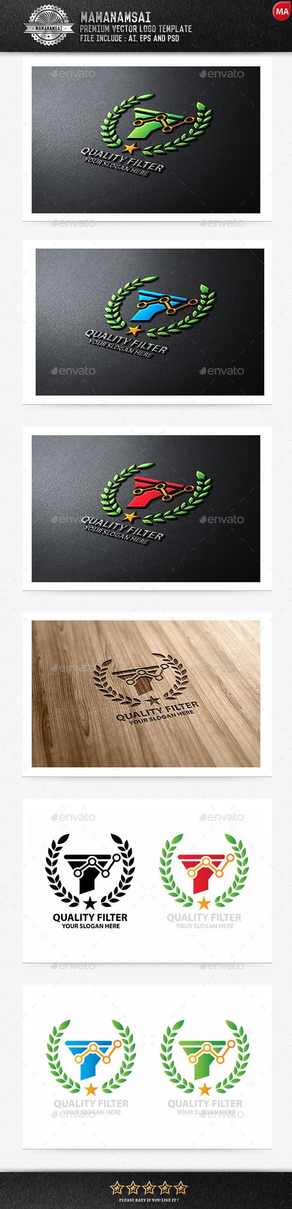 Quality Filter Logo - Logo Templates