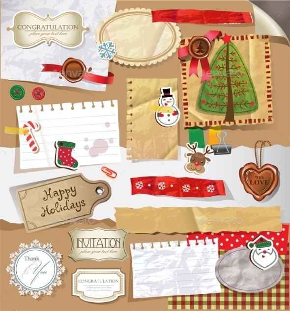 Scrapbook Set - Christmas Seasons/Holidays