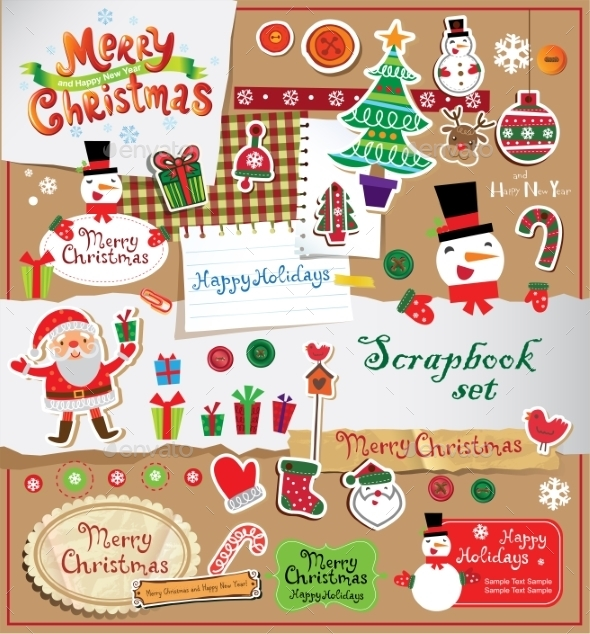Christmas Scrapbook Set - Christmas Seasons/Holidays