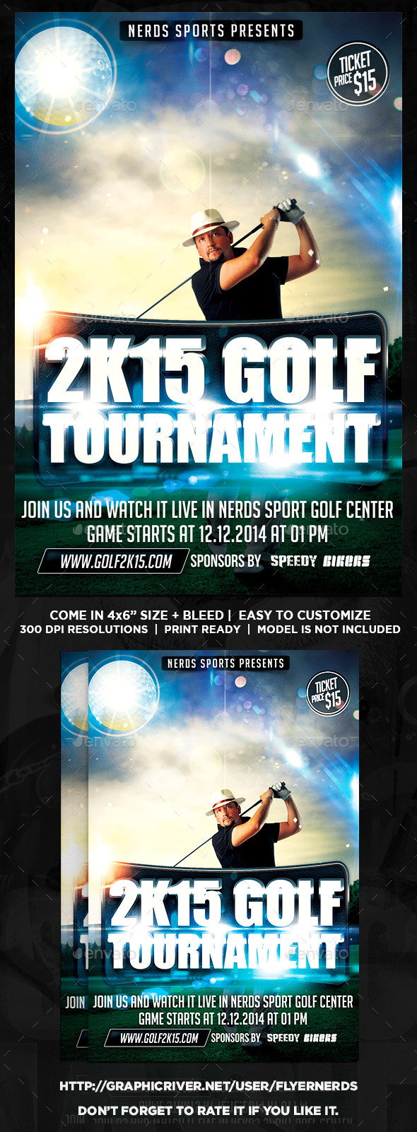 Golf Competition 2K15 Sports Flyer - Sports Events