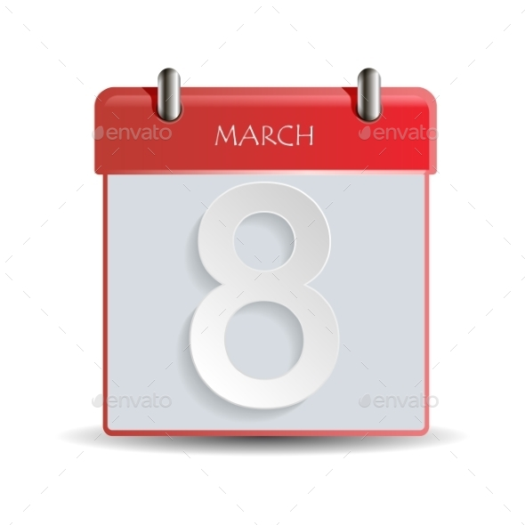 Women Day Calendar - Objects Icons