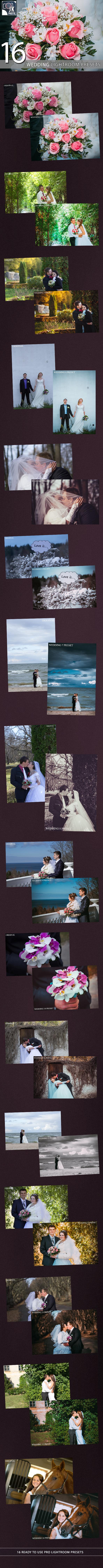 16 Wedding Premium Lightroom Presets - Wedding Lightroom Presets