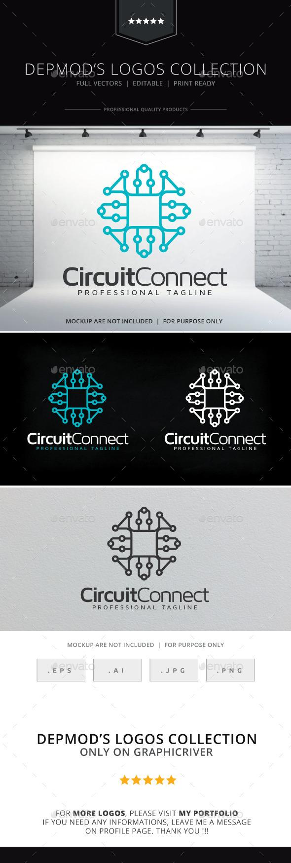 Circuit Connect Logo - Abstract Logo Templates