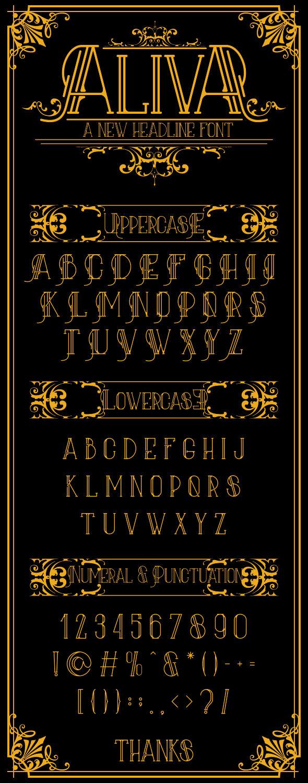 Aliva Font + Poster Vector - Miscellaneous Serif