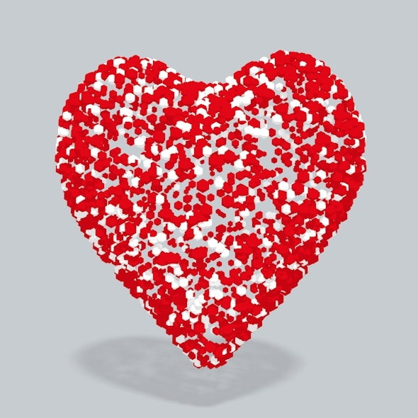 3D Heart spheres - 3DOcean Item for Sale