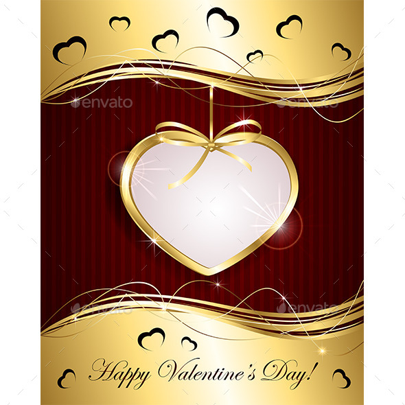 Gold Heart - Valentines Seasons/Holidays