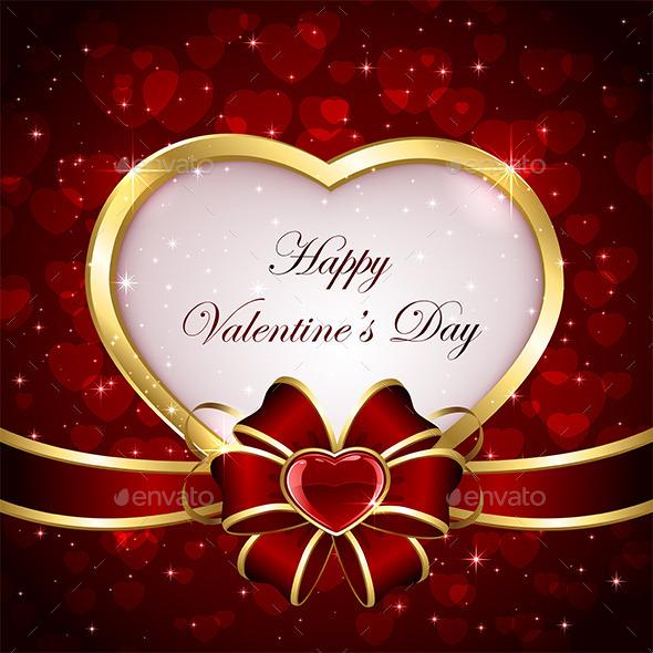 Heart with Ribbon - Valentines Seasons/Holidays