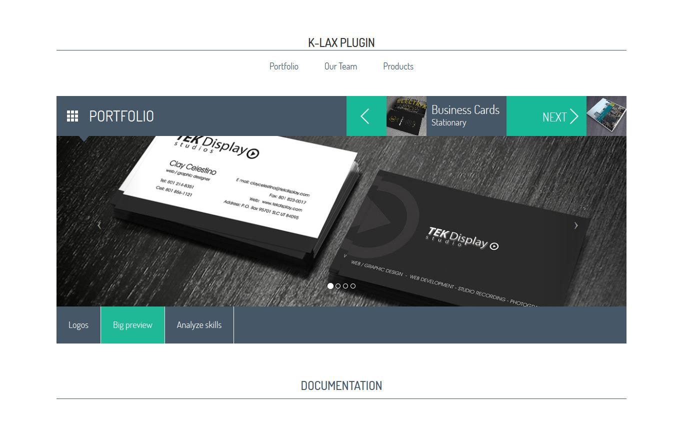Klax - Responsive HTML/jQuerry Plugin, Display your Work, Team ...