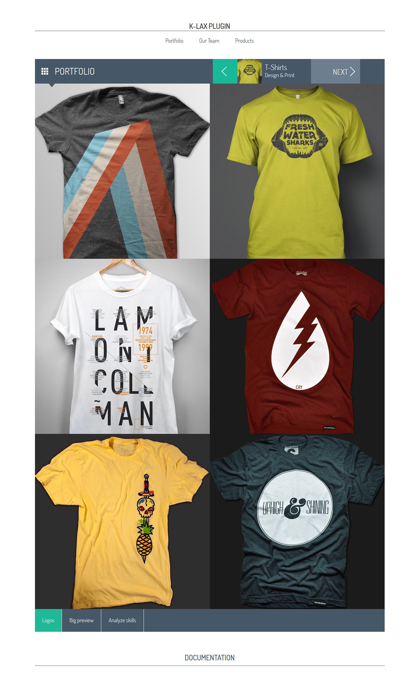 Klax responsive html jquerry plugin display your work for T shirt designer plugin