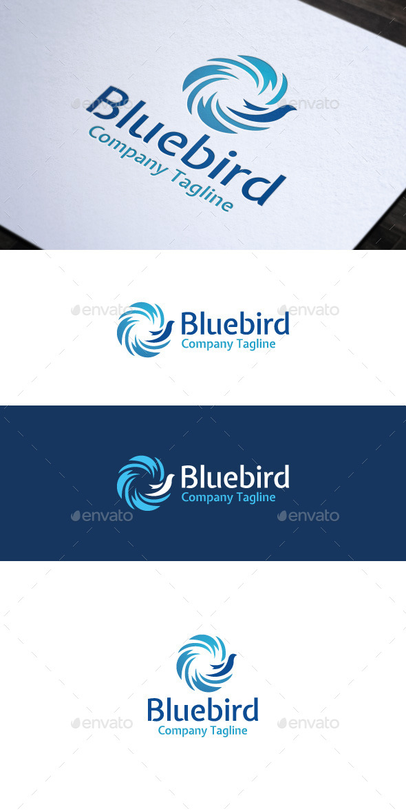 Bluebird - Vector Abstract