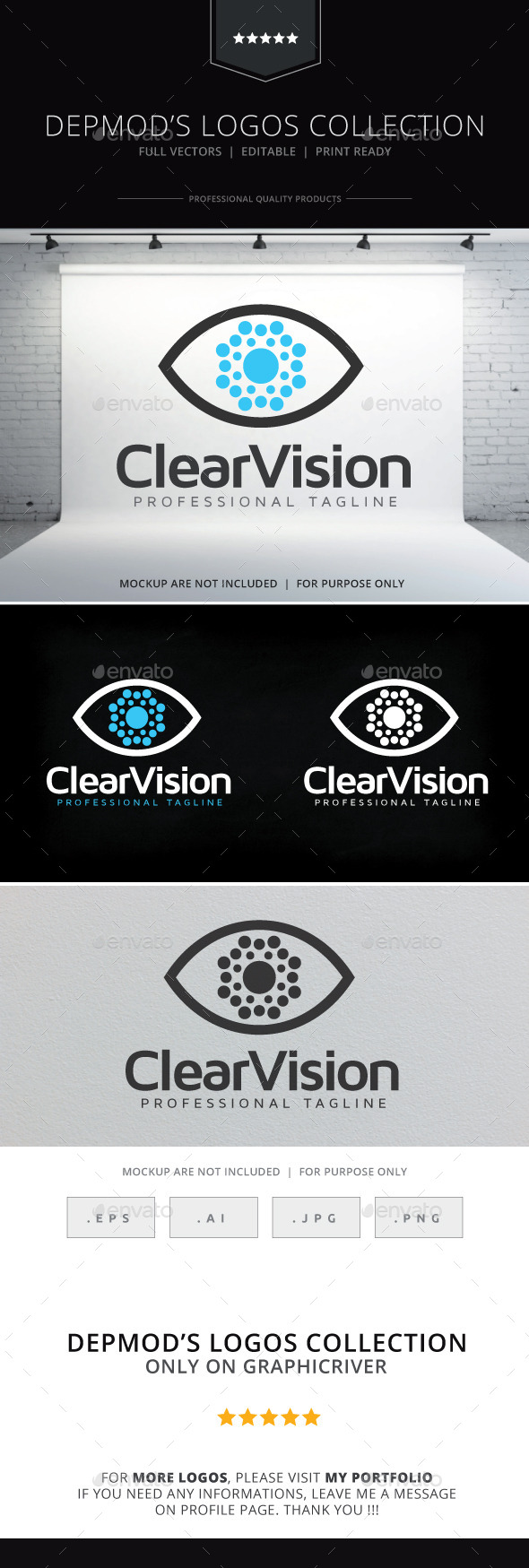 Clear Vision Logo - Objects Logo Templates