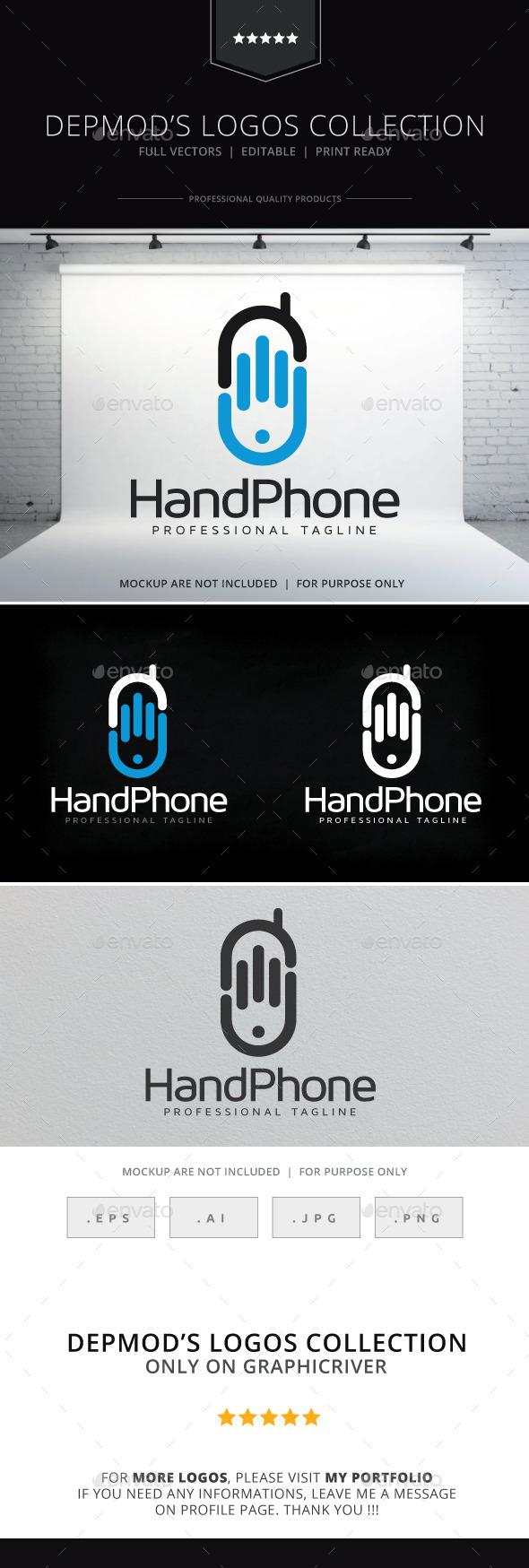 Hand Phone Logo - Objects Logo Templates