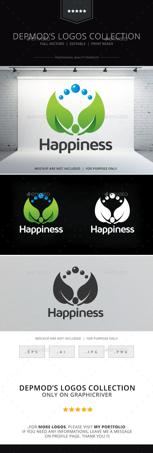 Happiness Logo - Humans Logo Templates