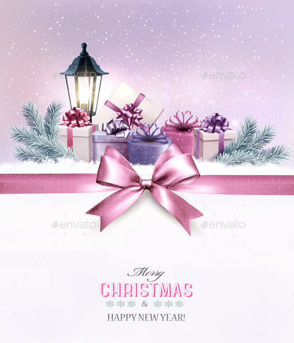 Christmas Gift Boxes in Snow - Seasons/Holidays Conceptual