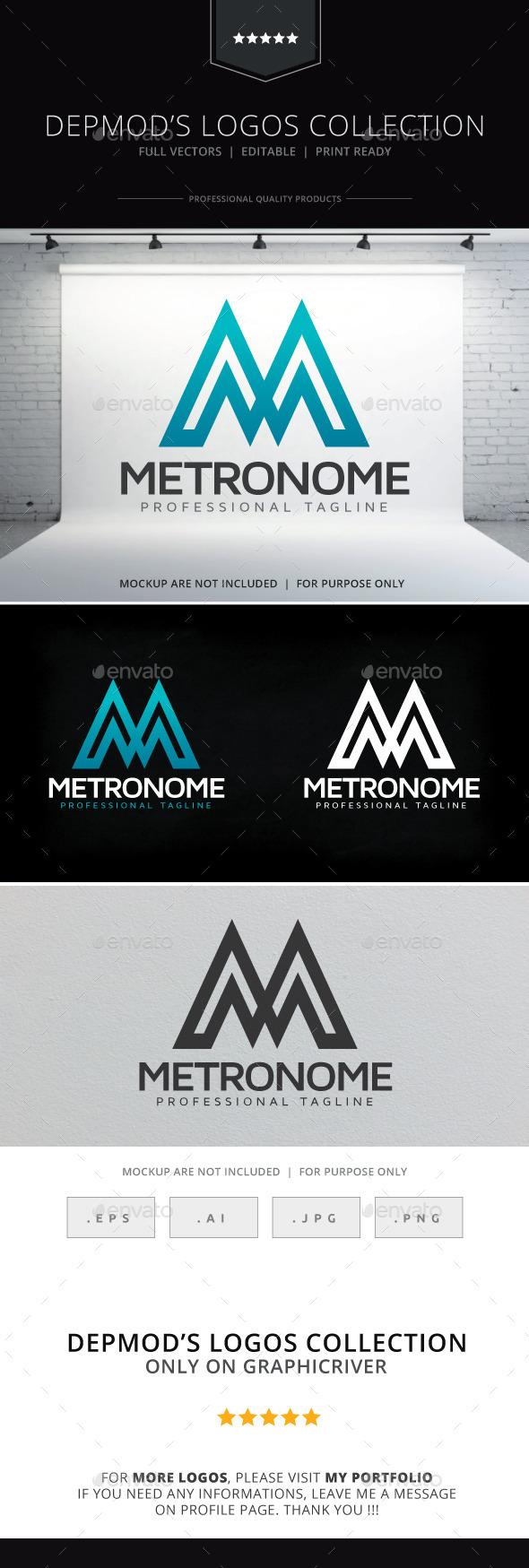 Metronome Logo - Letters Logo Templates