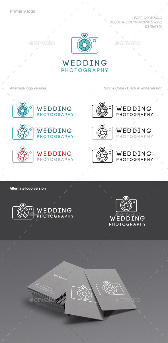 Wedding Photography Logo - Objects Logo Templates
