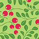 Floral Seamless Patterns with Berries - GraphicRiver Item for Sale
