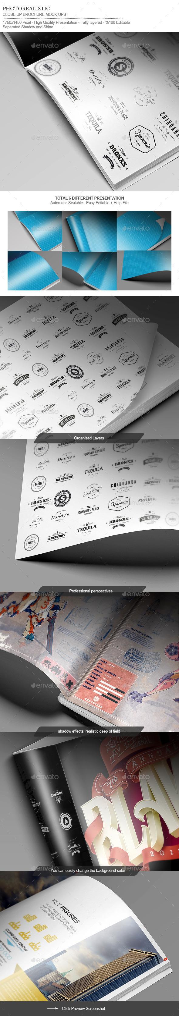 Flyer / Logo / Brochure / Close-Up Mock-Up - Miscellaneous Print