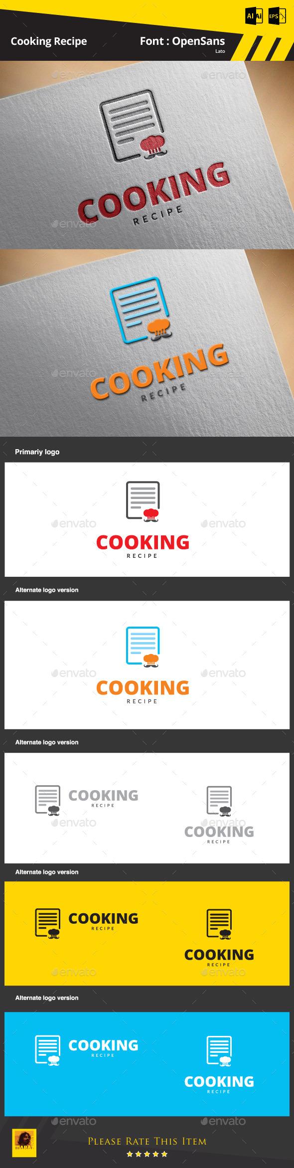 Cooking Recipe Logo Template - Food Logo Templates