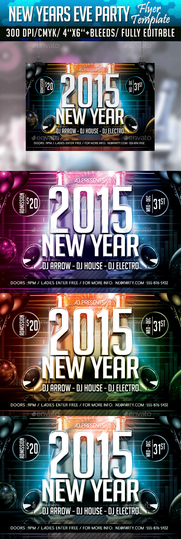 New Year Eve Party Flyer 2 - Clubs & Parties Events