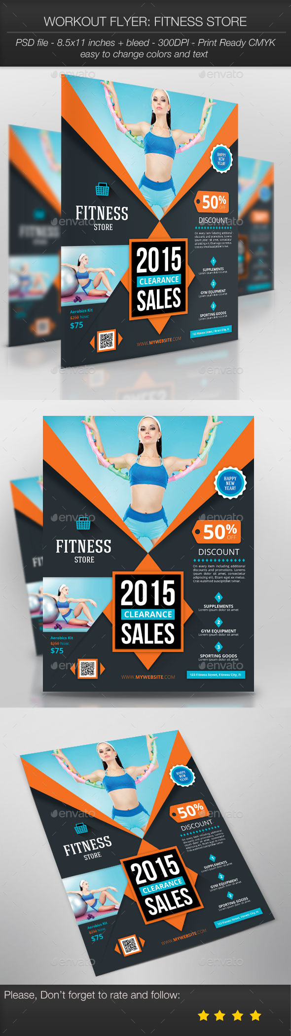 Workout Flyer: Fitness Store - Sports Events