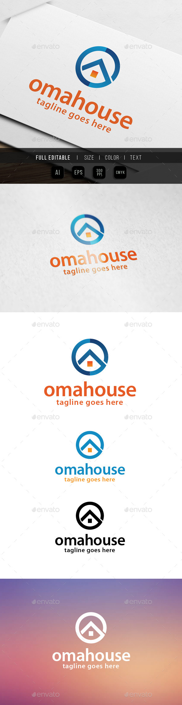 Home House Letter O - Letters Logo Templates