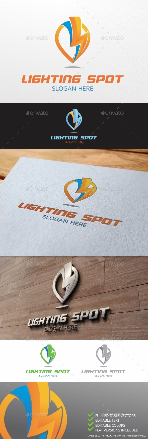 Lightning Spot Logo - Nature Logo Templates