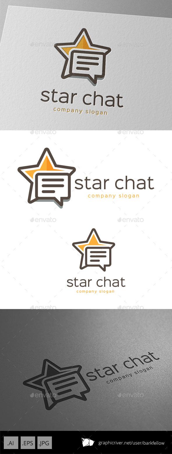 Star Chat Logo Design - Symbols Logo Templates