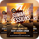 Summer Sessions - Futuristic Electro Flyer - GraphicRiver Item for Sale
