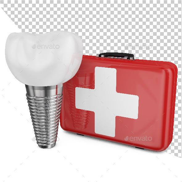 Dental Implant - 3D Backgrounds