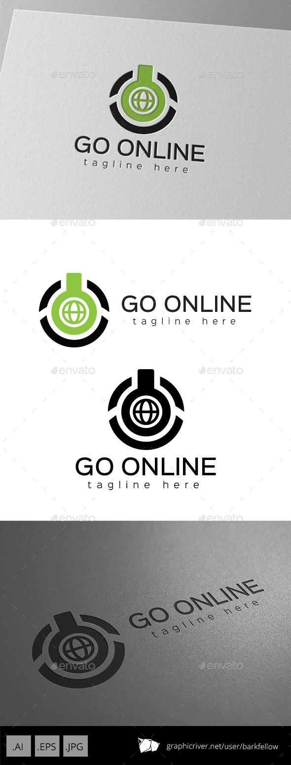 Computer Power Online Logo  - Symbols Logo Templates