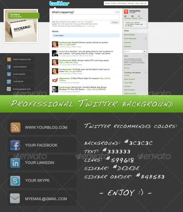 Professional Elegant Twitter Background - Miscellaneous Web Elements