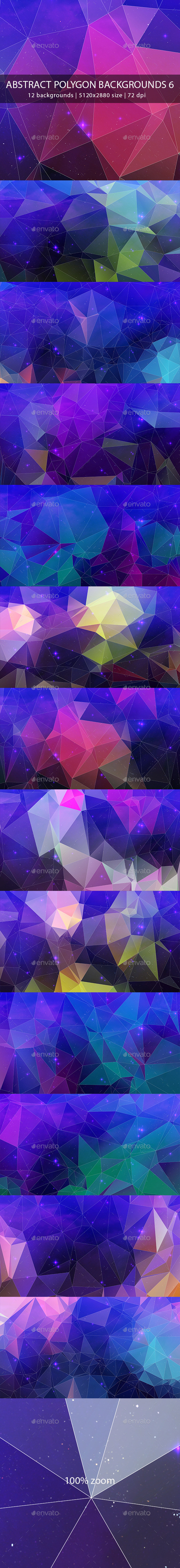 Abstract Polygon Backgrounds 6 - Abstract Backgrounds