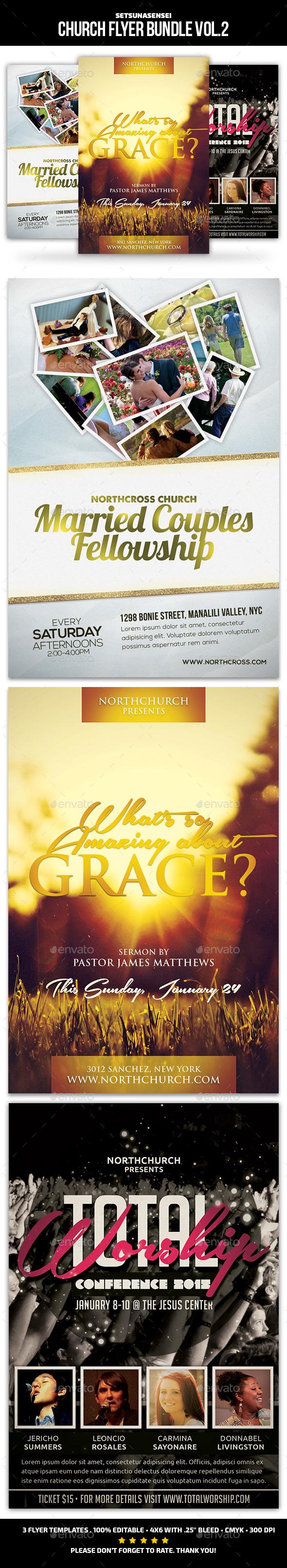Church Flyer Bundle Vol. 2 - Church Flyers
