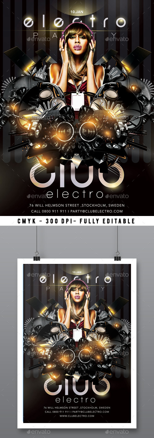 Flyer Electro Sound Party In Club - Clubs & Parties Events
