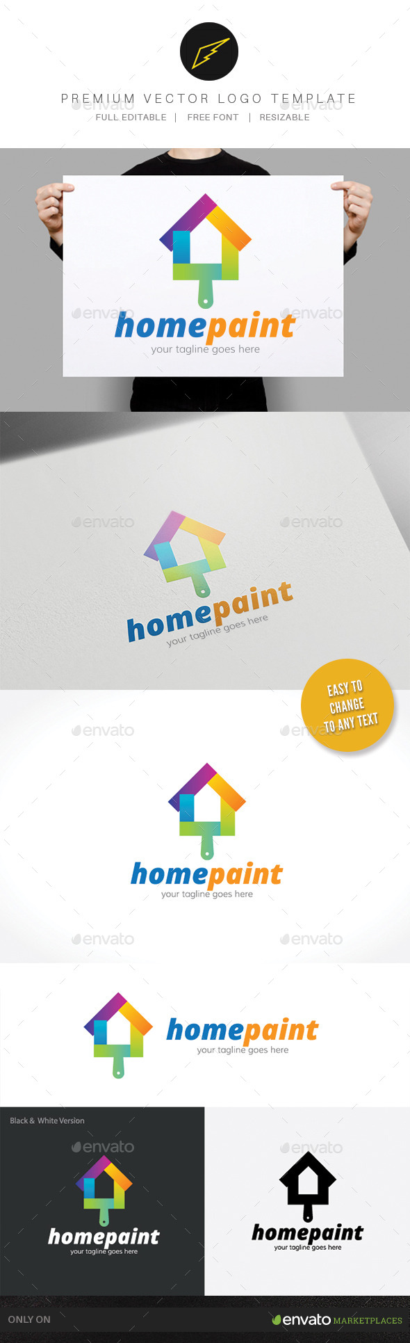 Home Paint - Buildings Logo Templates