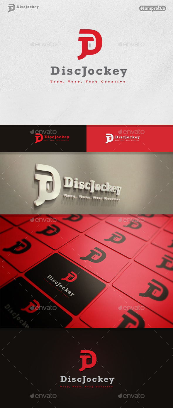 Disc Jockey Logo - Vector Abstract
