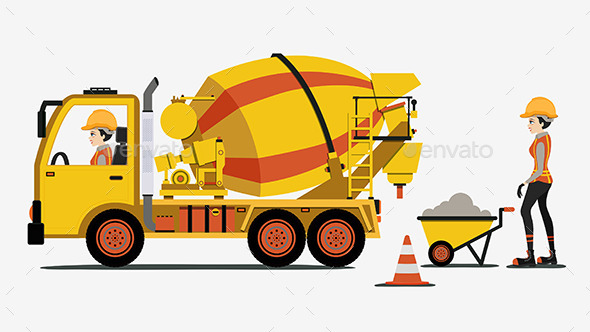 Cement Truck - People Characters