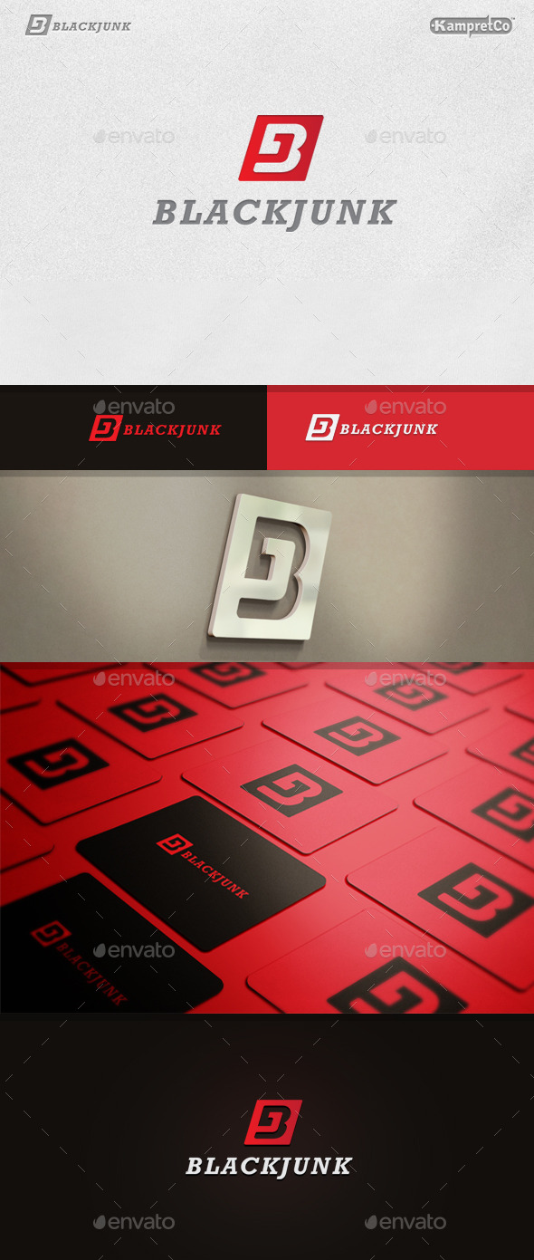 BJ Creative Logo - Vector Abstract