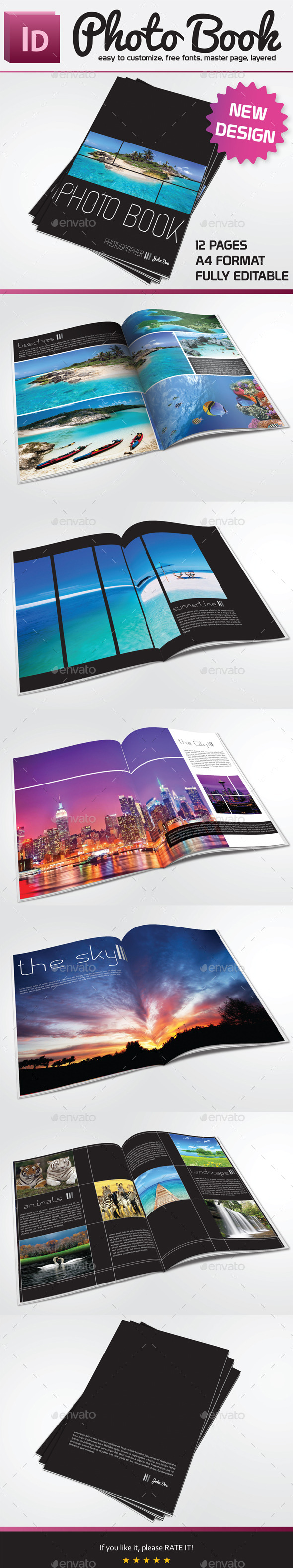 Photo Book Template - Portfolio Brochures
