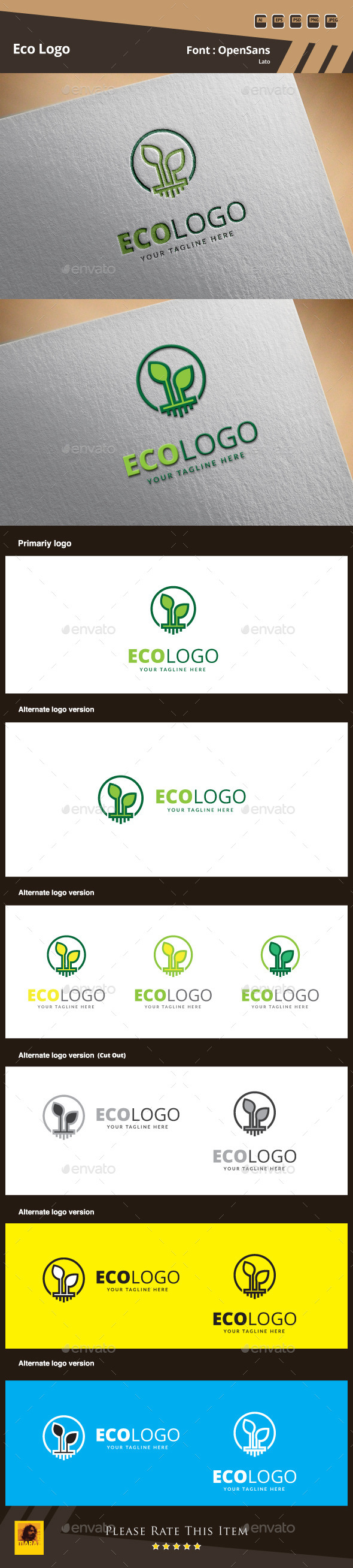 Eco Logo Template - Nature Logo Templates