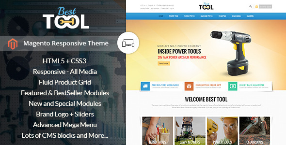 Tools - Magento Responsive Theme - Technology Magento