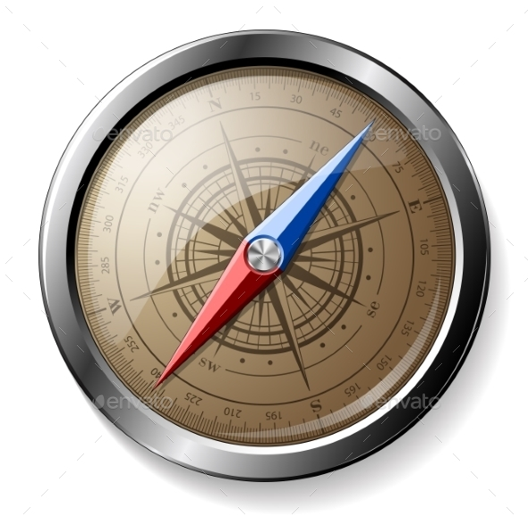 Steel Compass - Objects Vectors
