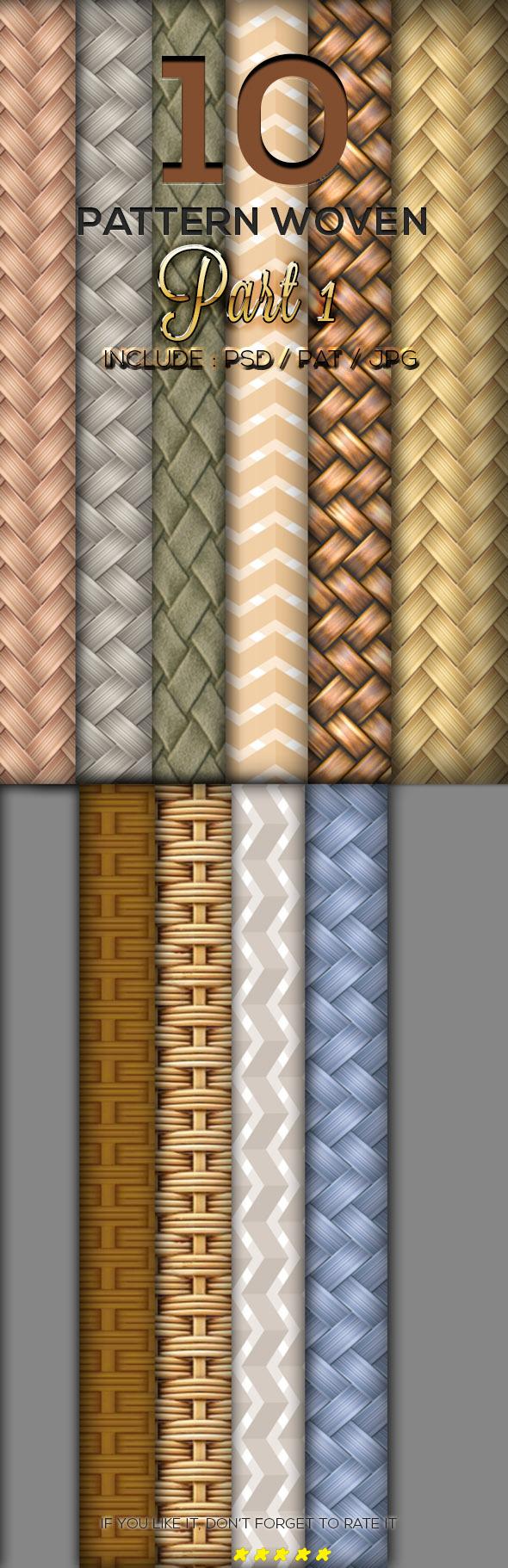 10 Woven Texture Pattern Part 1 - Textures / Fills / Patterns Photoshop