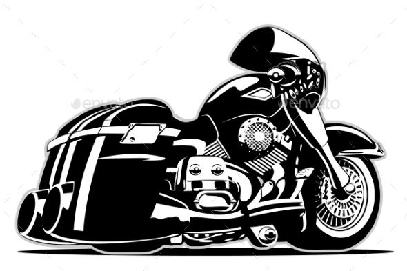 Cartoon Motorbike - Man-made Objects Objects